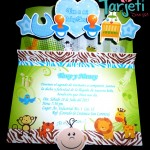 Invitación de Animalitos Baby Shower Pop-Up 06